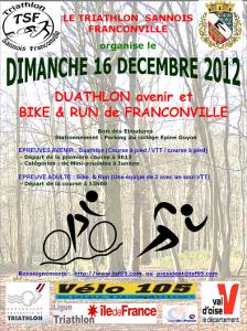 Affiche bike&run Franconville