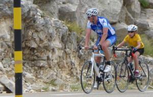 Paul B. 12 ans à l'ascension du Mont Ventoux tout simplement.